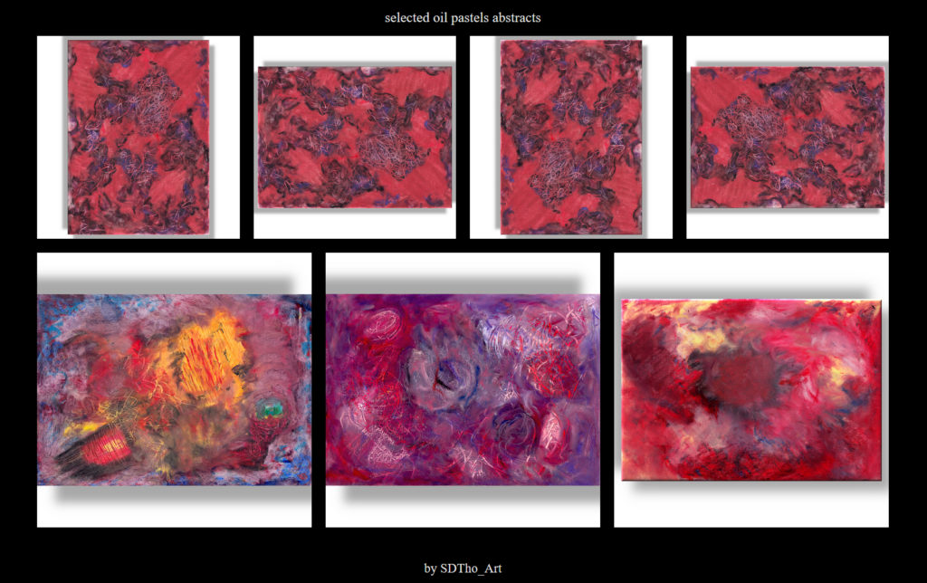 abstract oil pastels gallery