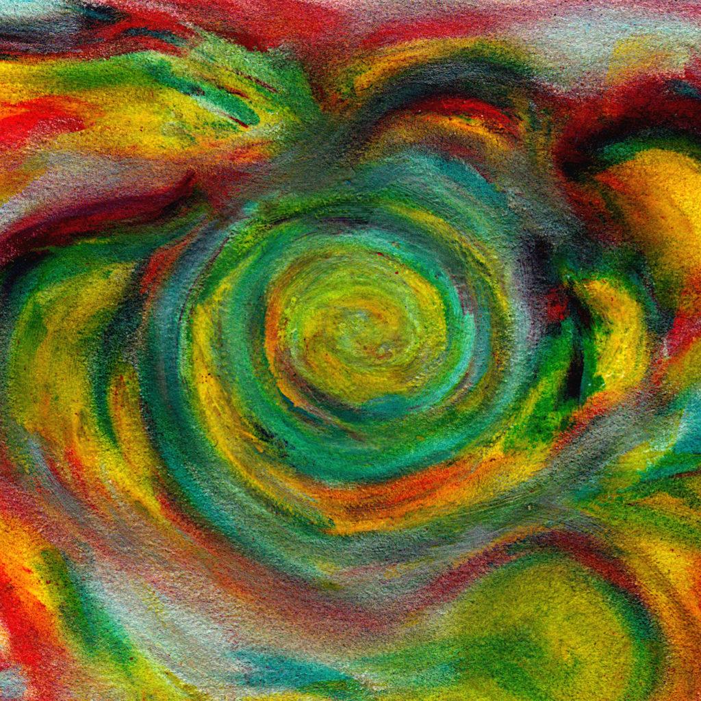 spiral color oil pastel
